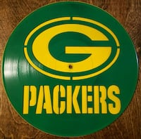 Laser cut vinyl record with Packers Otis Orchards-East Farms, 99027
