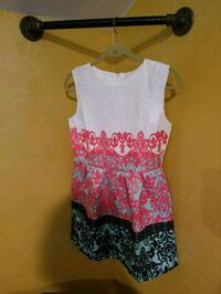 white and pink floral sleeveless dress Neenah, 54956