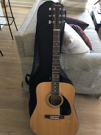 Fender FA-100 Dreadnought Acoustic Guitar - Natural Bundle with Tuner, Strings, and Picks Arlington, 22203