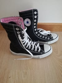 All Star 36,5 cano alto Converse preto-e-branco