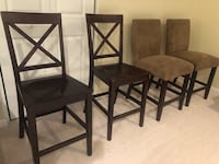 4 Dining Room Chairs / Stools Bar Height Leesburg, 20176