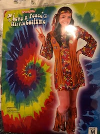 New Kids Peace and Love Hippie Costume Size M Elizabeth, 07208