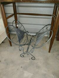 3 large metal candle holders and magazine rack Summerdale, 36580