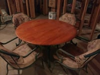 Oak wood  table and 4 chairs Dacula, 30019