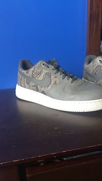 Pair of gray snakeskin leather nike air force 1 Whitby