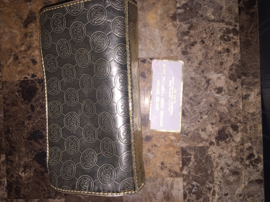2cadd3c83f ... new zealand black monogrammed michael kors leather long wallet 5bf4e  55503