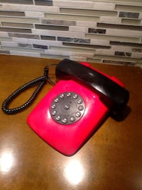 Vintage Red Telemax TM3603 Retro Corded Phone 80's 567 km