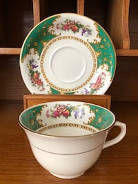 GUC Vintage Bridgewood Antique Bone China Tea Cup and Saucer