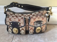 Authentic Coach brown and black monogrammed hobo bag Richmond Hill, L4B 1S9