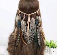 brown and beige braided feather head dress New Bedford, 02745