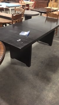 Large black wooden table with 1 leaf 459 km