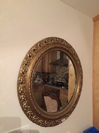 round brown wooden framed mirror Lake Elsinore, 92530