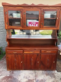 brown wooden TV hutch with cabinet Pembroke Park, 33023