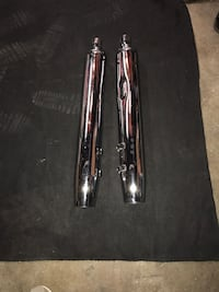 two stainless setel mufflers