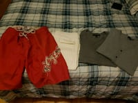 Red med shorts, white med pants and two med sweate Montréal, H1G 3H8