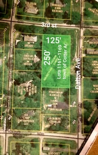 10 lots in Cotter Cotter