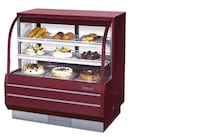"""Turbo Air TCGB-48DR-R-N Red 48"""" Curved Glass Dry Bakery Display Case SANJOSE"""