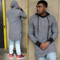 Gray hoodie new for men size L Lancaster, 93536