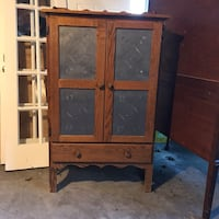 brown wooden cabinet with mirror 22 km