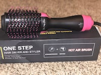 Hair straightener & curling brush