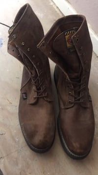 brown leather justin work boots 13D San Angelo, 76903