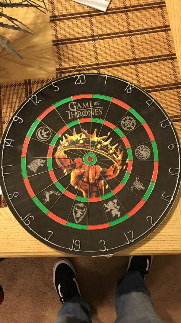 Used Black Game Of Thrones Dartboard For Sale In Lakewood Letgo