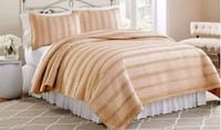 3 Piece Ruffled Quilt Set, Queen Size  Kitchener, N2E 3T7