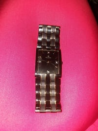 square silver analog watch with link bracelet Lansing, 48910