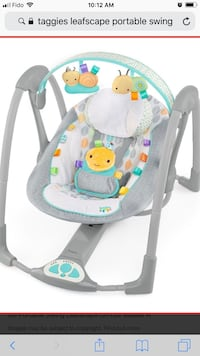 Bright Start Taggies portable baby swing  Mississauga, L5M 6E1