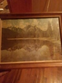 brown wooden framed painting Granby, 64844