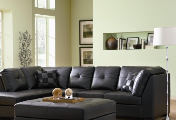 Brand New Leather Sectional Sofa with Left-Side Chaise
