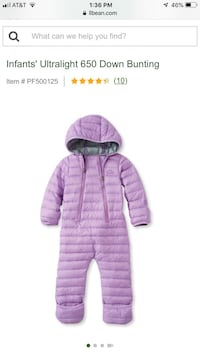 purple and white bubble jacket null
