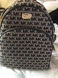 black and brown Michael Kors backpack Olive Branch, 38654