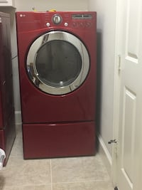 Red front-load LG dryer  The Colony, 75056