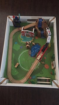 green and brown train toy set Burke, 22015