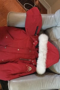 Large kid moose knuckle Red jacket with white fur Mississauga, L4Z 2M1
