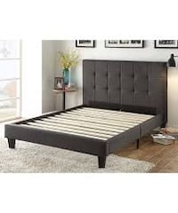 Gray Chloe Eastern Panel Bed Frame Full Size Brand New Indio