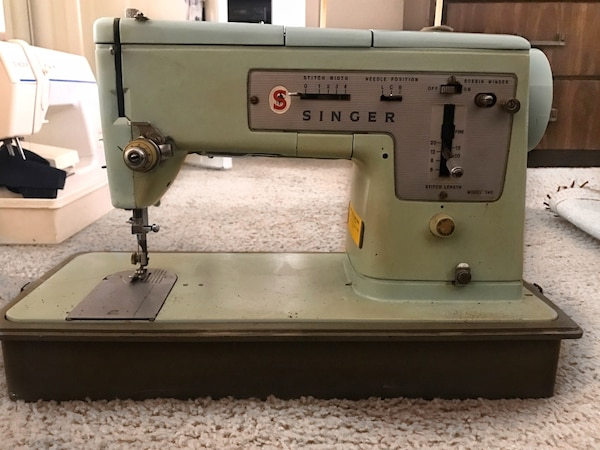 Used Vintage 40s Blue Green Singer Sewing Machine For Sale In Los Interesting Singer Green Sewing Machine