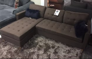 Brand new brown linen sectional