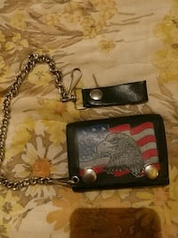 wallet vintage leather American Eagle and flag Creal Springs, 62922