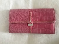 Pink crocodile skin leather long wallet Montréal, H3H