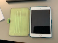 iPad mini 4. Perfect shape.  Includes case, charging cord, and glass cover.   Arlington, 22201