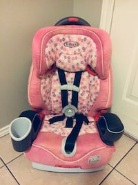 baby's pink and black car seat Brownsville, 78521