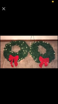 "2 -30"" wreaths with lights. All of the lights don't work but could also be used without lights. Knoxville, 37919"