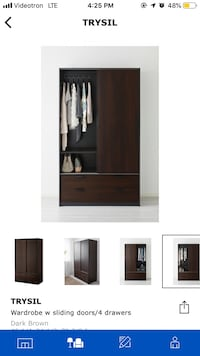 Sliding door wardrobe with 4 drawers Montréal, H4E 2Y7