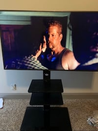50in Samsung smart 4K 2019 model slim and tv stand