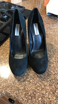 Steve Madden black suede leather size 8.5 Meridian, 83646
