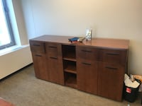 brown wooden desk with cabinet Chicago, 60614