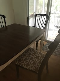 rectangular brown wooden table with six chairs dining set Sharon, 02067