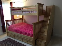 Pure oak bunk bed in an excellent condition